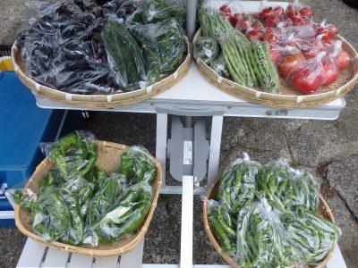 """月2回、収穫があればオープンする、""""朝採れ野菜やさん(無農薬)""""始めます。"""
